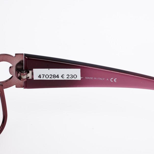Salvatore Ferragamo Purple Logo Temple Woman Shield Sunglasses