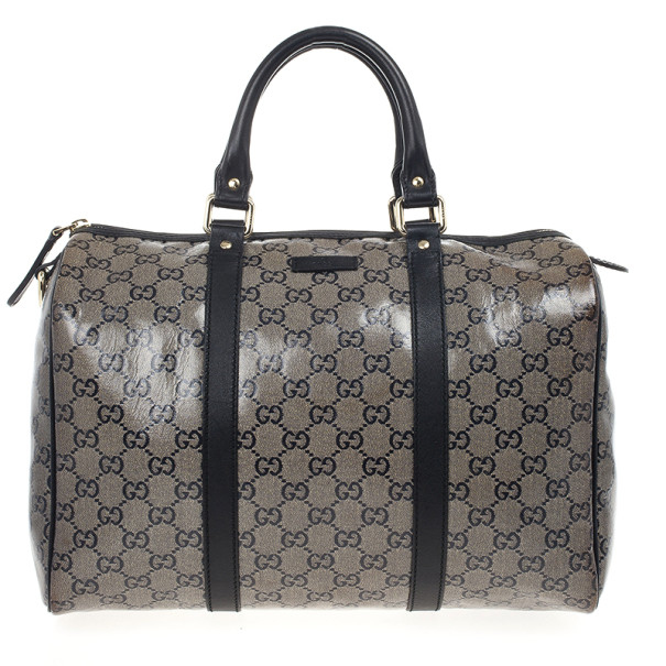 Gucci Grey Crystal Lame Joy Boston Satchel