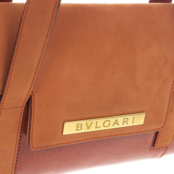 Bvlgari Suede & Patent Leather Mini Shoulder Bag