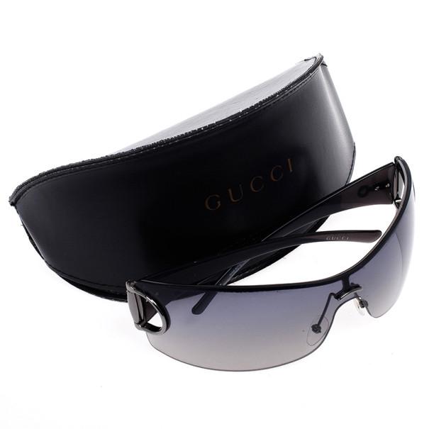 Gucci Black Horsebit Shield Women Sunglasses