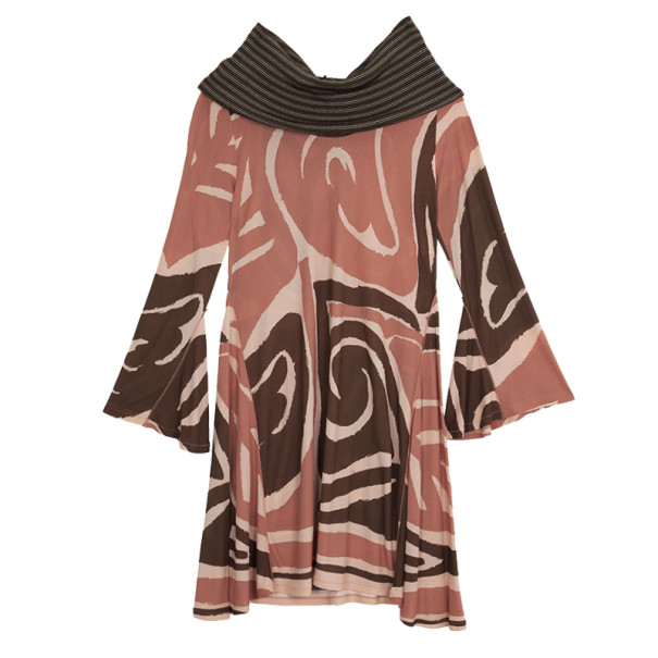 M Missoni Cowl Neck Stretch Dress L