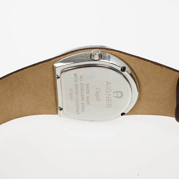 Aigner Capri Brown Stainless Steel Womens Wristwatch 31 MM
