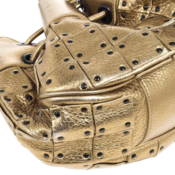Burberry Prorsum Studded Warrior Gold Bag