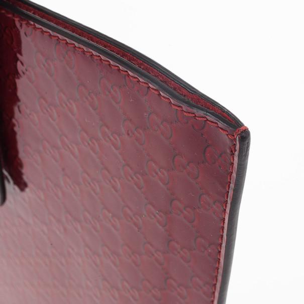 Gucci Red Microguccissima Leather iPad Case