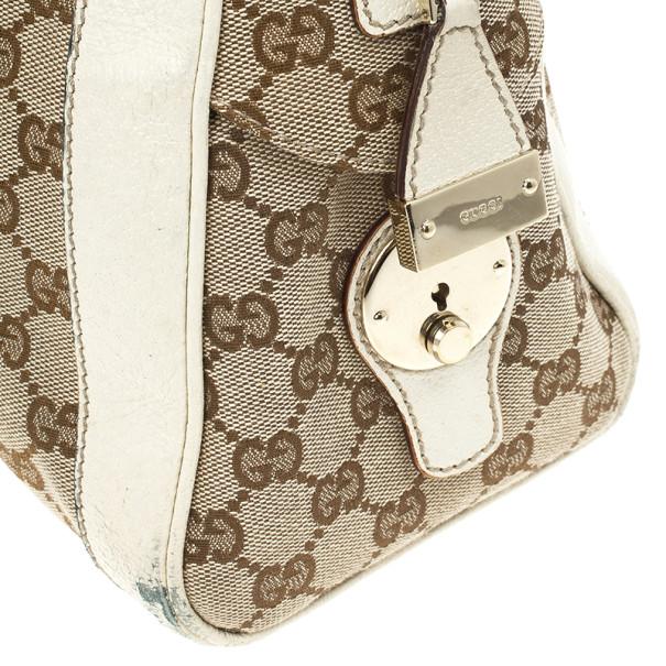 Gucci Monogram Canvas Web Detail Briefcase