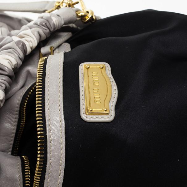 Miu Miu Large Harlequin Leather Tote