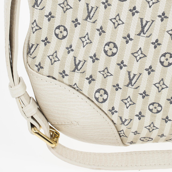 Louis Vuitton Blue And White Monogram Mini Lin Croisette Marina PM Bag