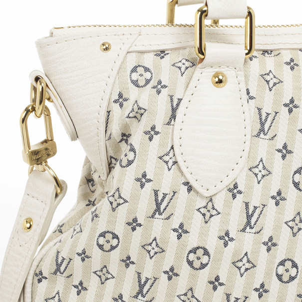 Louis Vuitton Blue And White Monogram Mini Lin Croisette Marina PM Bag