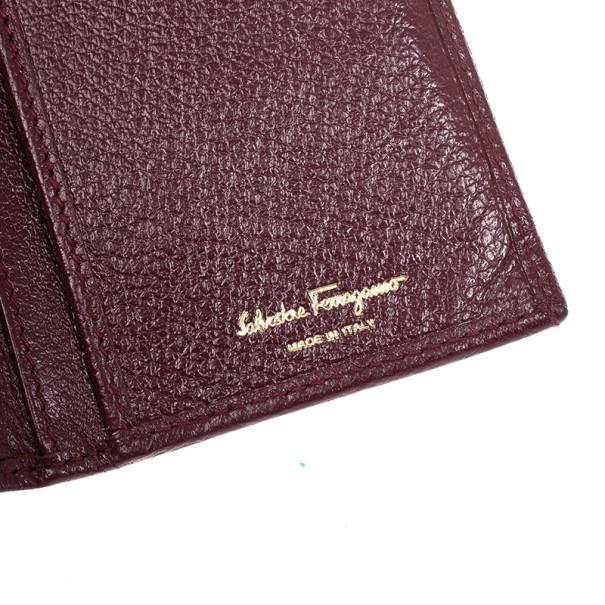 Salvatore Ferragamo Gancini Bordeaux Continental Wallet