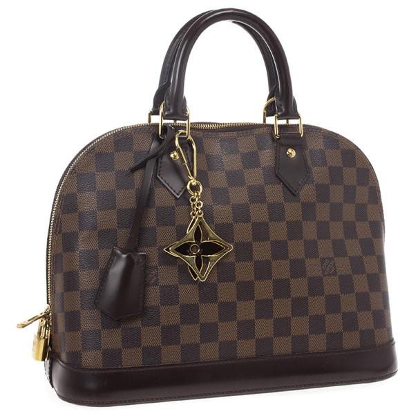 Louis Vuitton Damier Ebene Alma PM and Puzzle Key Ring