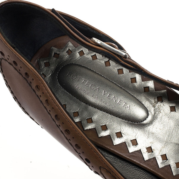 Bottega Veneta Brown Leather Fringe Pumps Size 38.5