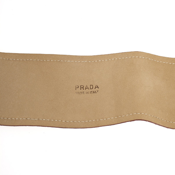 Prada Orange Python Wide Belt 85 CM