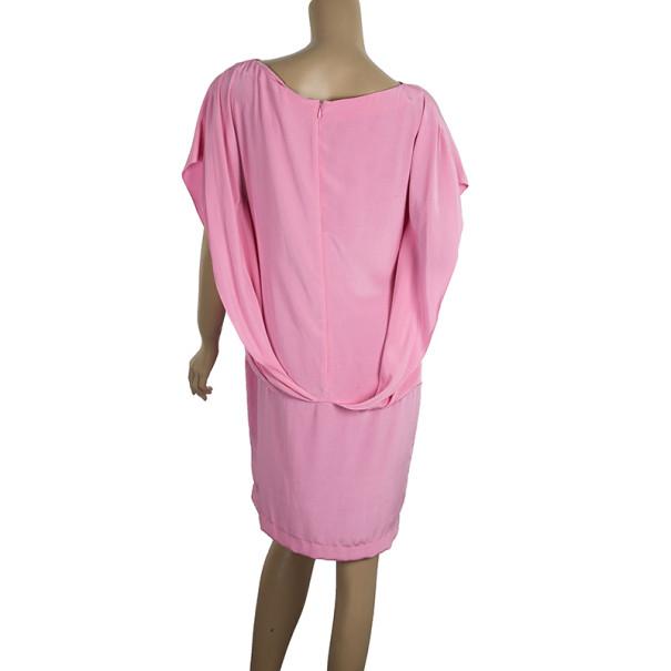 Balenciaga Dolman Sleeve Silk Shift Dress S