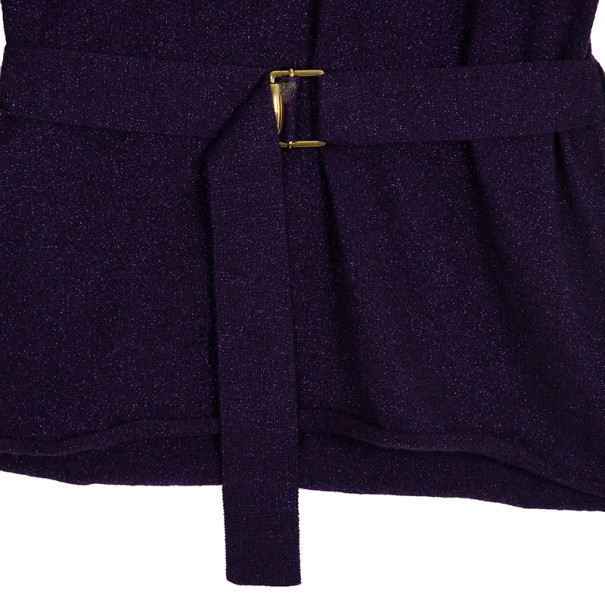 Gucci Metallic Purple Cashmere Sweater S