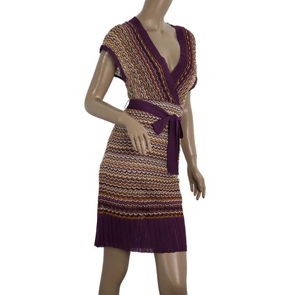 M Missoni Faux Wrap Dress S