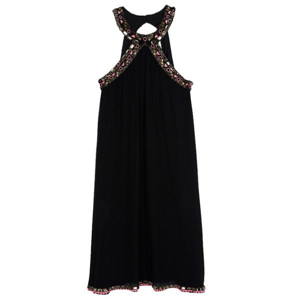 Matthew Williamson Embellished Halterneck Dress S