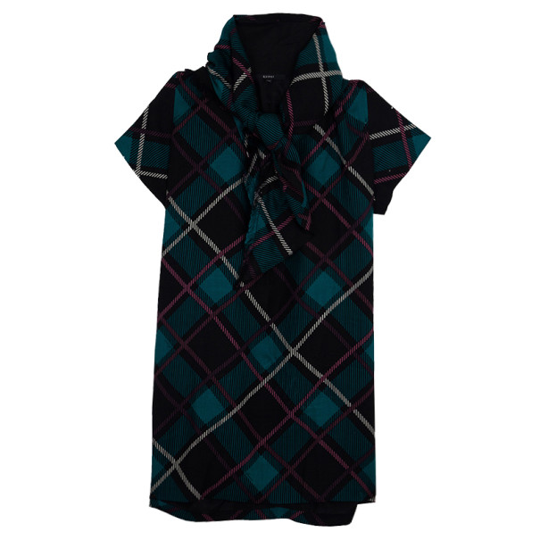 Gucci Plaid Print New Clan Scarf Top S