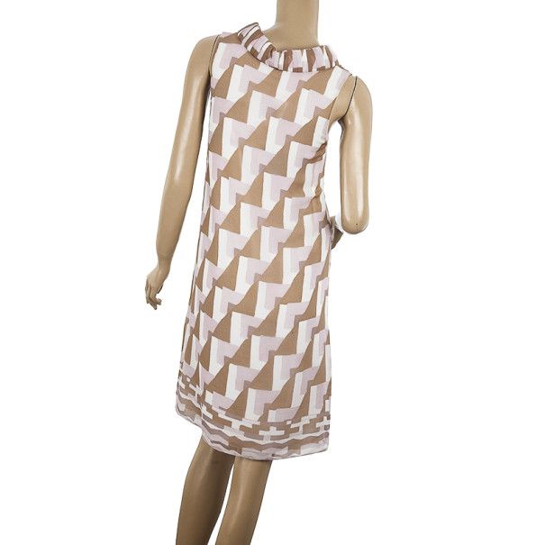 Fendi Abito Georgette Shift Dress