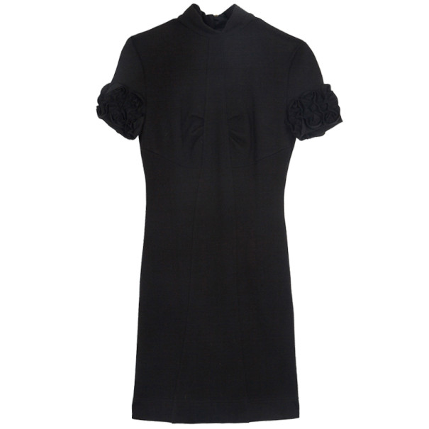 D and G Frill Sleeve Black Dress M