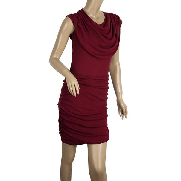 Chloe Draped Waist Rouge Dress XS