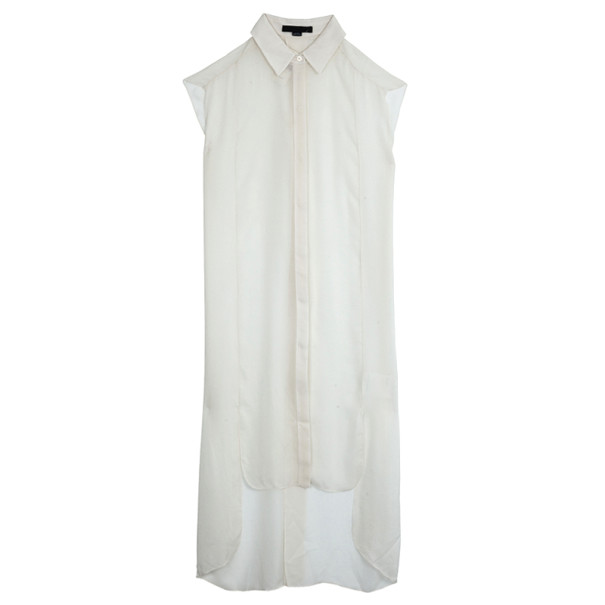 Alexander Wang Sleeveless Sheer Shirt Dress S