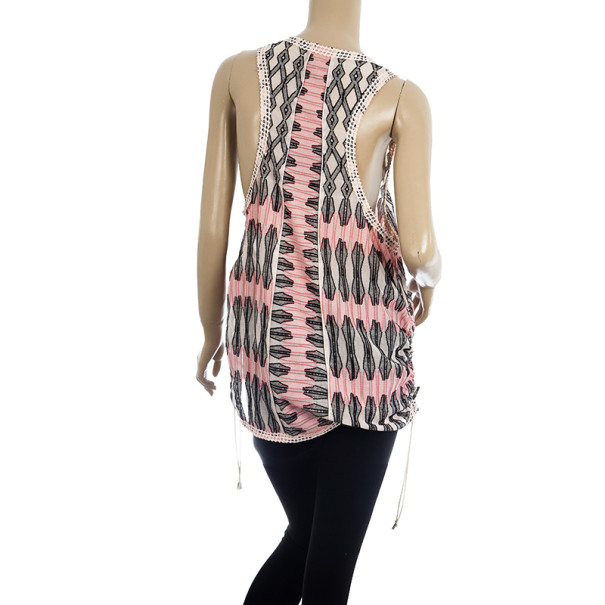 Louis Vuitton Patterned Sleeveless Top S