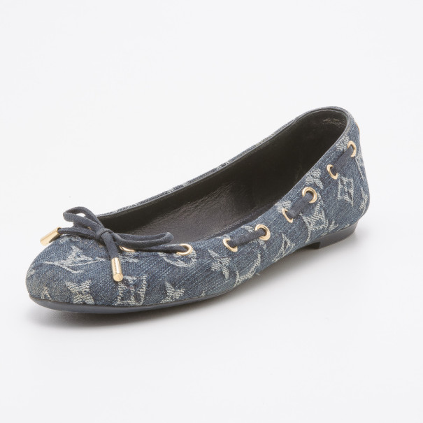 Louis Vuitton Monogram Denim Oasis Ballet Flats Size 39