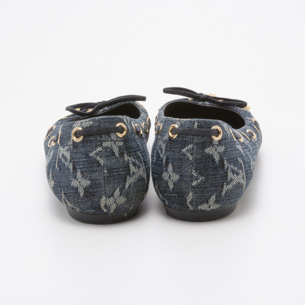 Louis Vuitton Monogram Denim Oasis Ballet Flats Size 39