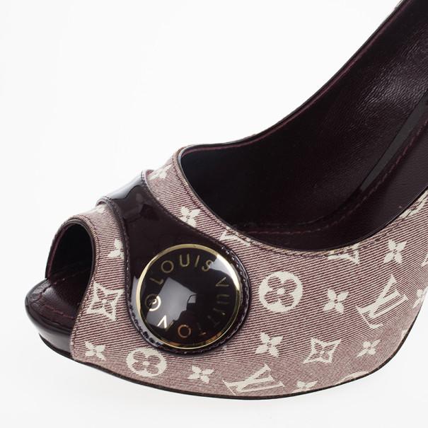 Louis Vuitton Monogram Idylle Judy Peep Toe Pumps Size 39