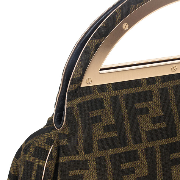 Fendi Zucca Canvas Borsa Smile Clutch