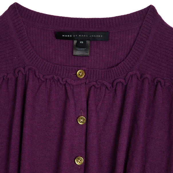 Marc by Marc Jacobs Cotton-silk Gold Button Cardigan XS