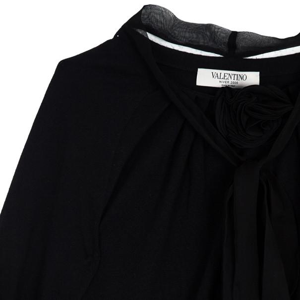 Valentino Rosette Wool Blend Cardigan S
