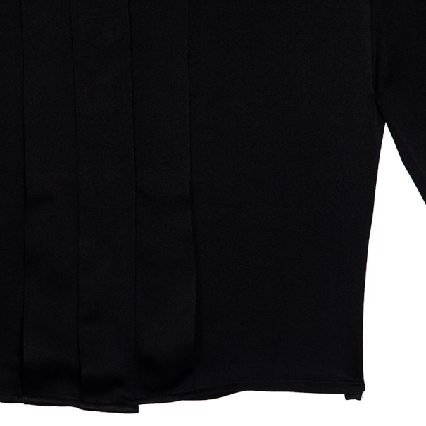 Chloe Velvet Embellished Collar Silk Shirt S
