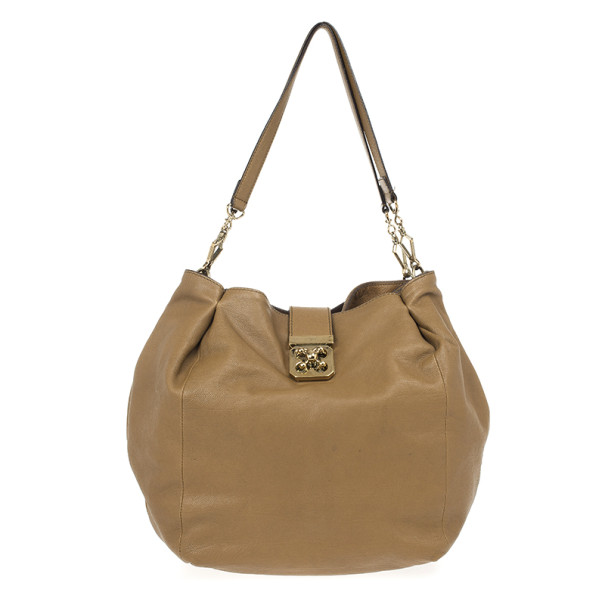 Chloe Brown Leather Elsie Hobo