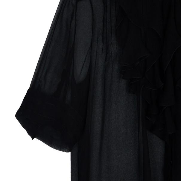 Chloe Ruffle Short Sleeve Shirt M