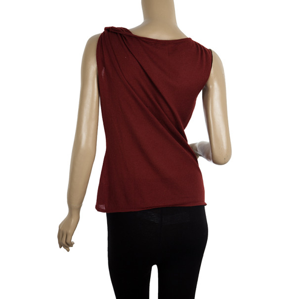 Gucci Gathered Sleeveless Top M