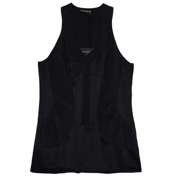 Balenciaga Silk Sleeveless Top S