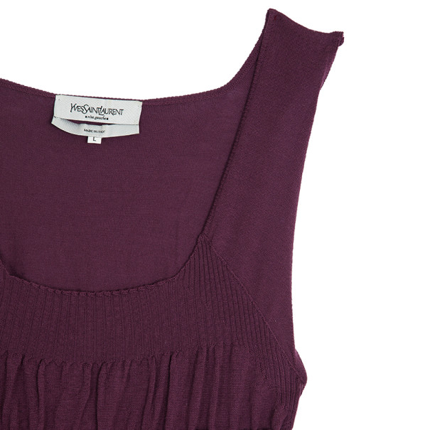 Saint Laurent Paris Sleeveless Knit Top L