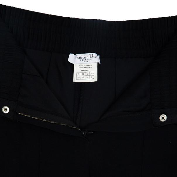 Dior Smocked Satin Belt Pants S