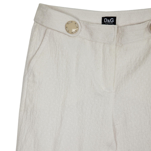 D and G White Casual Pants S