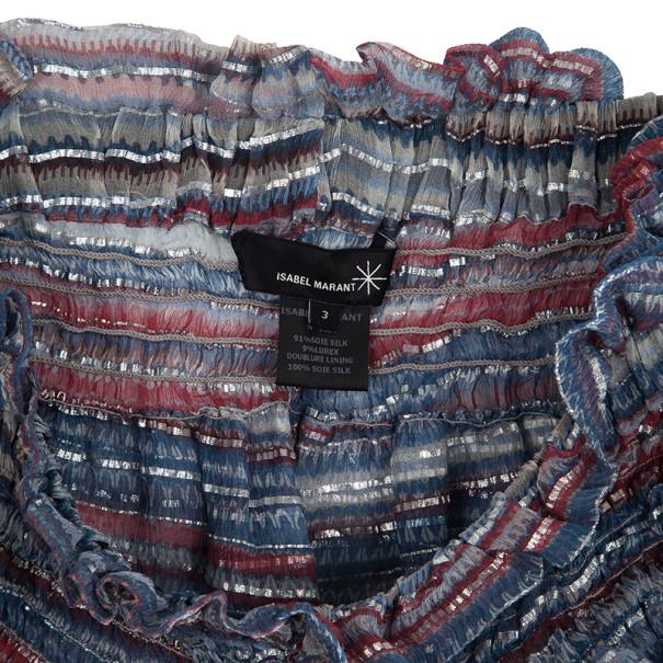 Isabel Marant Smocked Silk Chiffon Culottes S