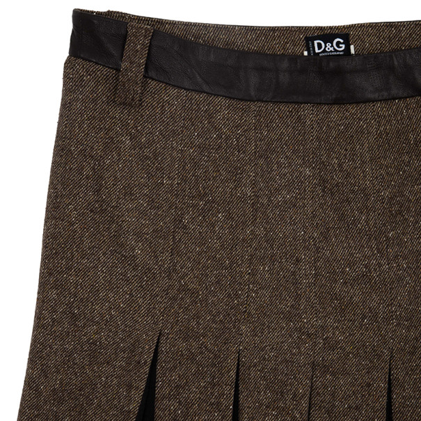 D and G Pleated Box Skirt S