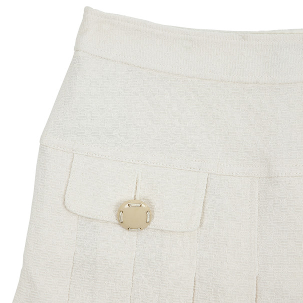 D and G Pleated Short Skirt S