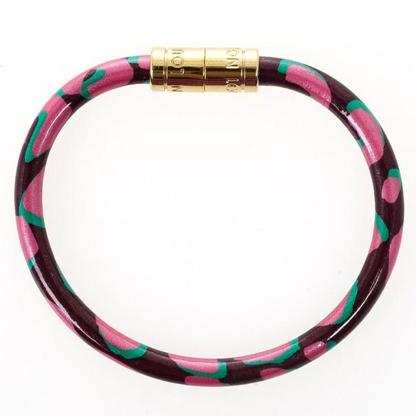 Louis Vuitton Keep It Pink Leopard Bracelet 16 CM