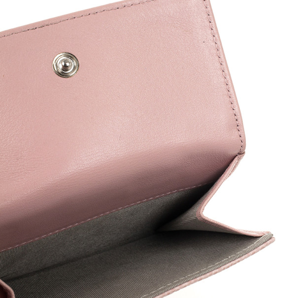 Chanel Pink Caviar Leather Compact Wallet