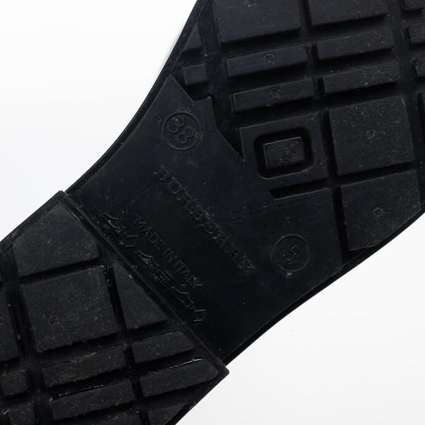Burberry Black Equestrian Knight Rain Boots Size 38