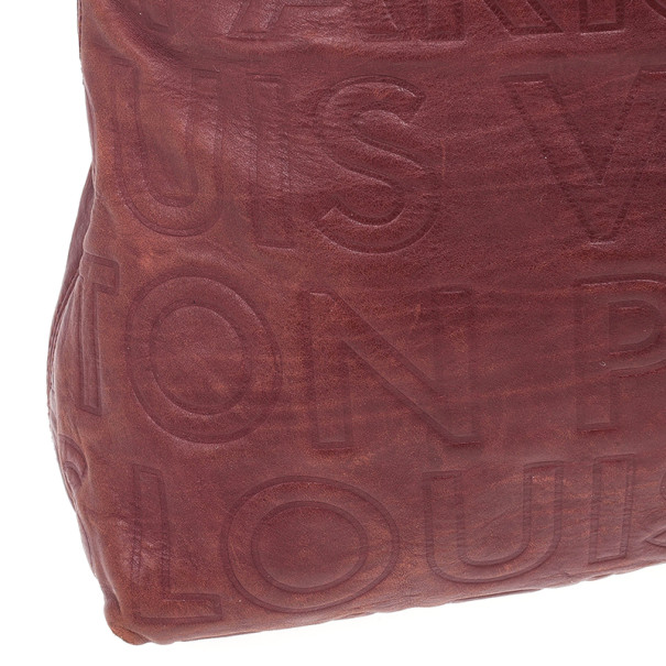 Louis Vuitton Burgundy Paris Souple Whisper GM Tote