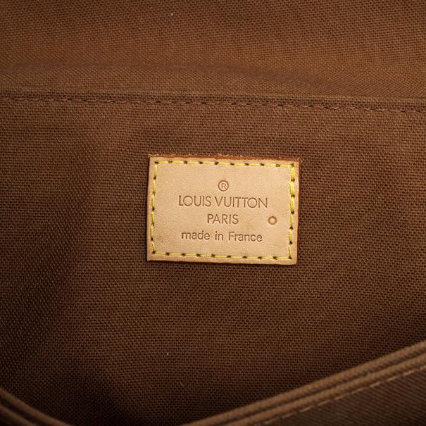 Louis Vuitton Pochette Marelle Brown Monogram Canvas Waits Bag
