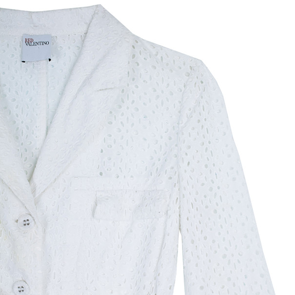 RED Valentino White Eyelet Jacket M