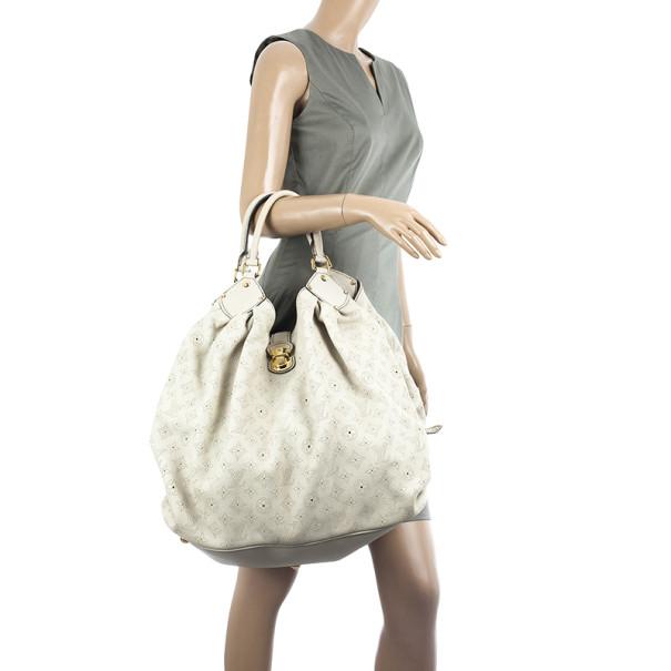 Louis Vuitton Ivory Mahina Leather XL Hobo